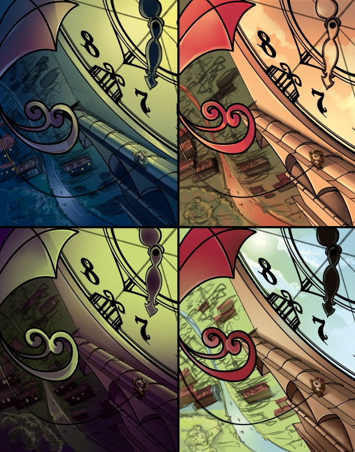 Clock Tower Color Comps